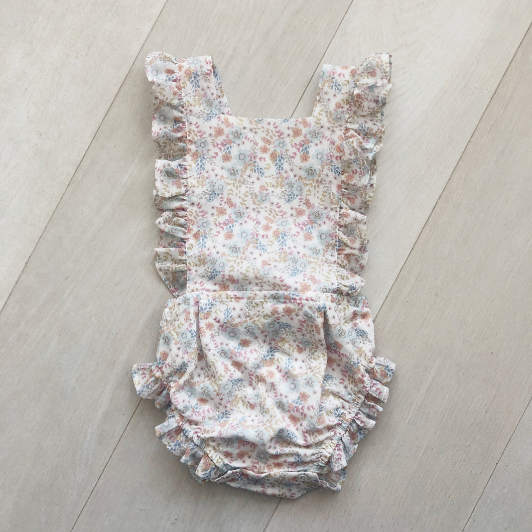 pastel floral sunsuit