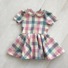 pastel check peter pan dress