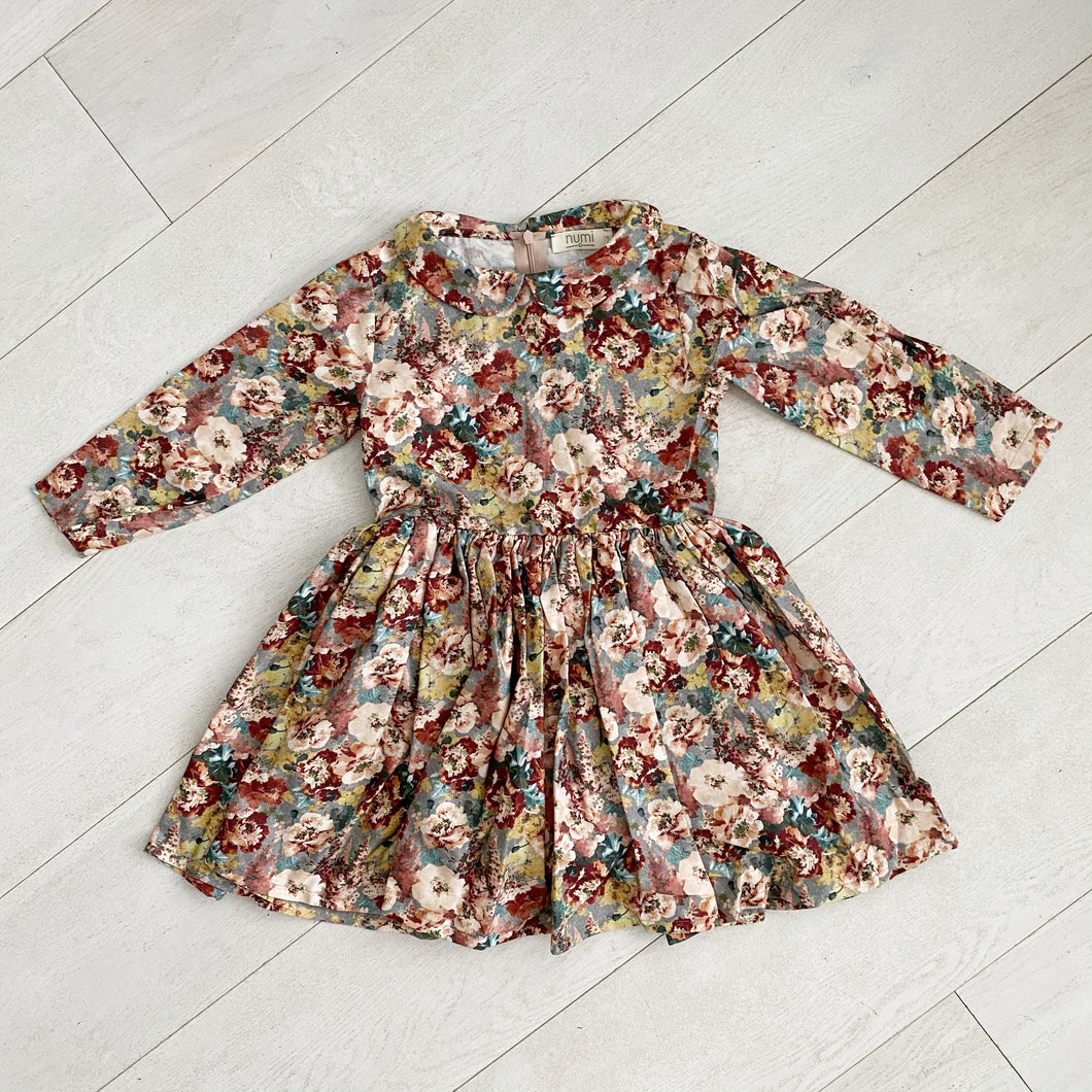 grandma floral peter pan dress