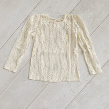 cream lace layering shirt