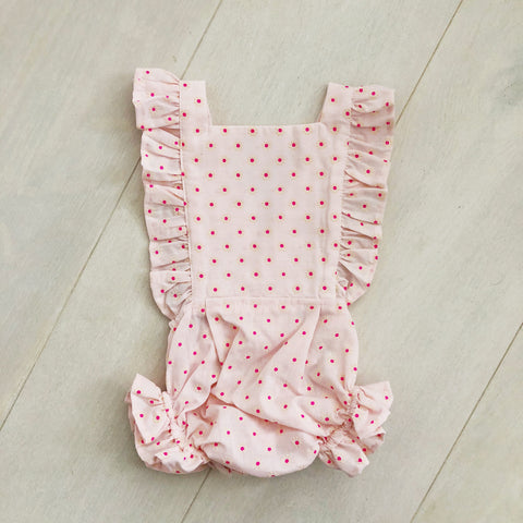 vintage flocked daisy sunsuit 6/12