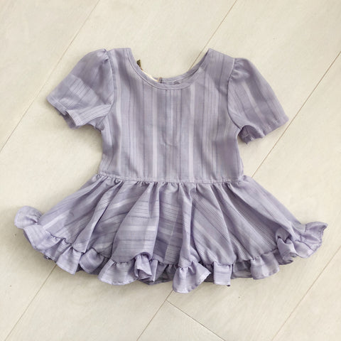 vintage lavender stripe dress 2t