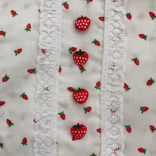 vintage strawberry fields pinafore 4t