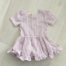 vintage lavender swiss dot dress 4t