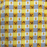 vintage yellow plaid pinafore - 3t