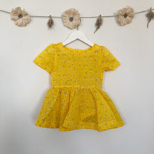 vintage flocked flower short sleeve dress - 2t, 3t