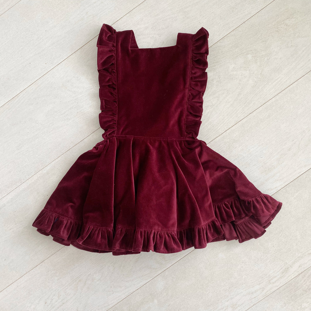 brick velvet pinafore