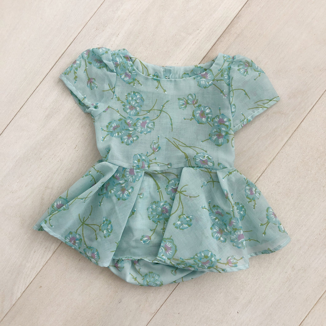 vintage pale blue fleur dress 6/12