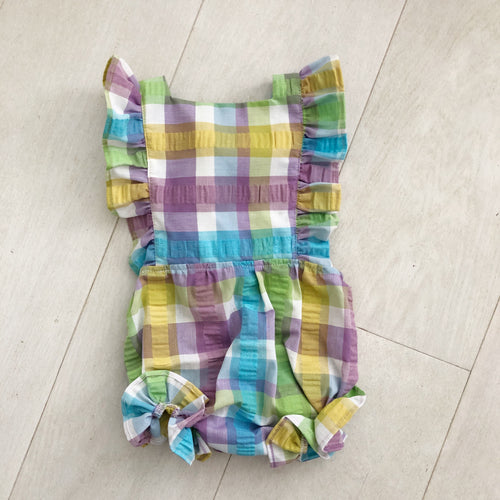 vintage plaid sunsuit 12/24