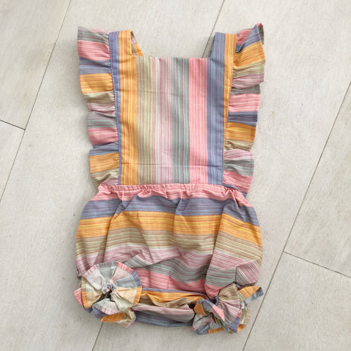 vintage sunset stripe sunsuit 12/24