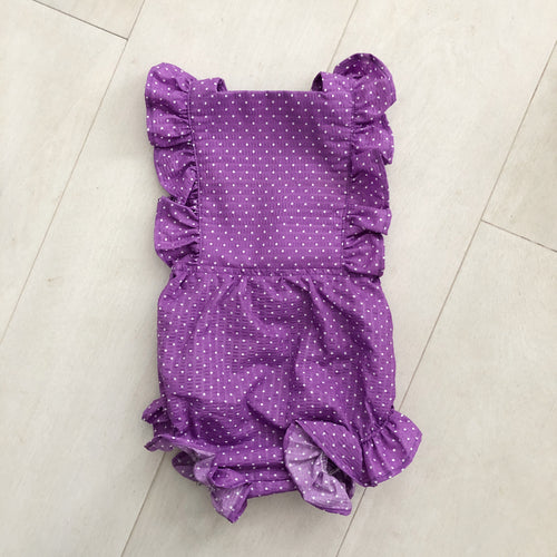 vintage purple polka dot sunsuit 12/24