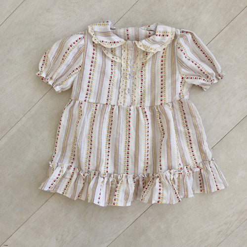 vintage heart stripe ella dress 12/24