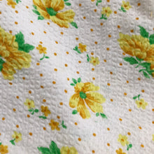 vintage yellow floral dot pinafore 2t