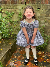 gingham dress with liberty libby collar