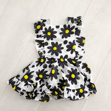 vintage black daisy pinafore 2t