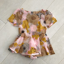 vintage semi sheer floral dress 2t
