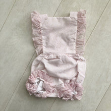 vintage flocked dot sunsuit 2t