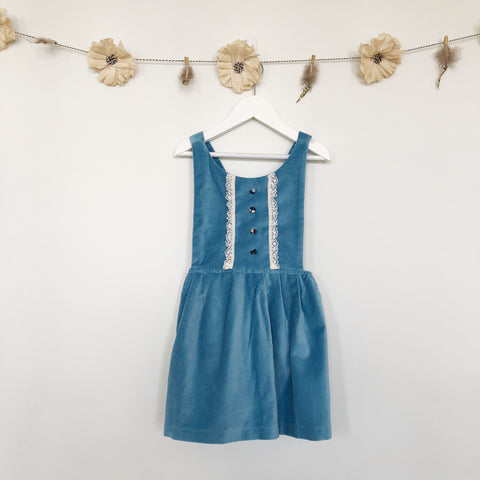 limited edition velvet apron dress