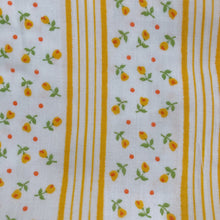 vintage yellow floral stripe pinafore 3t