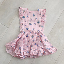 vintage pink garden dimity pinafore 3t