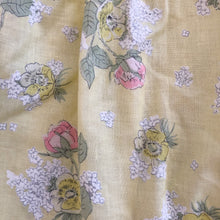 vintage yellow floral ella dress 3t
