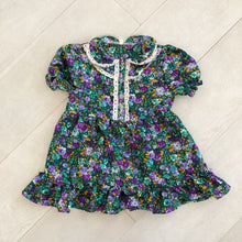 vintage dark floral ella dress 3t