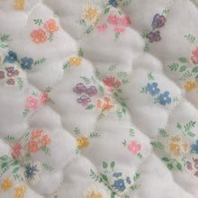 vintage flocked rainbow floral pinafore 4t