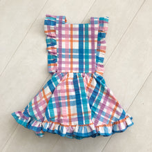 vintage plaid pinafore 4t
