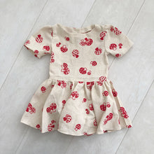 vintage flocked mushroom dress 4t