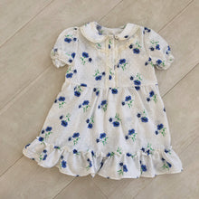 vintage blue floral ella dress 5t
