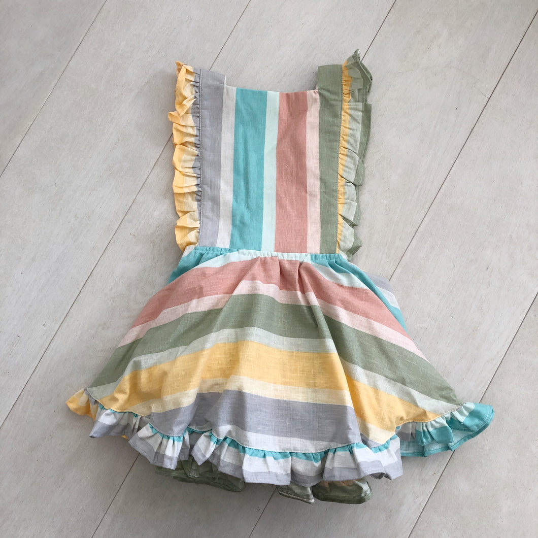 vintage stripe pinafore 6t