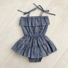 "chambray rainbow dot ""lou"" playsuit"