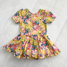liberty magical bouquet short sleeve ruffle dress