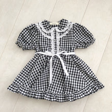 "black and white gingham ""eve"" dress"