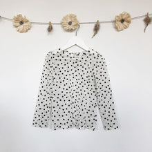 flocked dot layering shirt