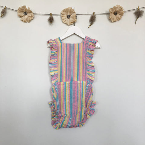 vintage pastel stripe sunsuit - 2t, 3t