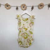 vintage yellow dimity sunsuit - 2t