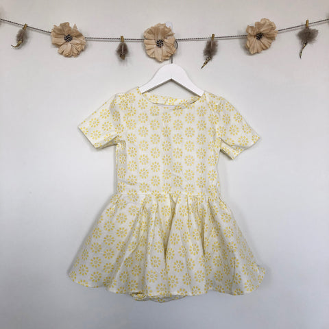 vintage yellow daisy dress - 4t, 5t