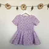 vintage lavender gingham dress - 3t