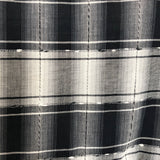 vintage textured black plaid dress - 3t