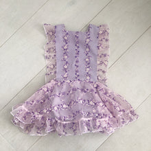 flocked vintage lilac pinafore