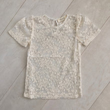 ivory lace short sleeve shirt