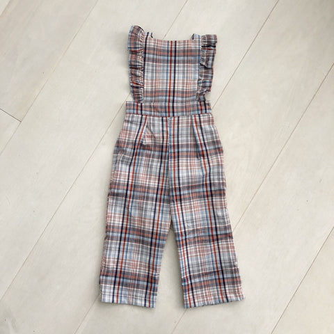 vintage plaid jumpsuit 12/18