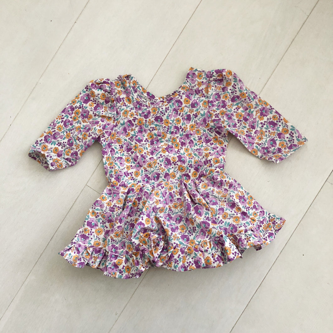 vintage purple garden dress 12/18