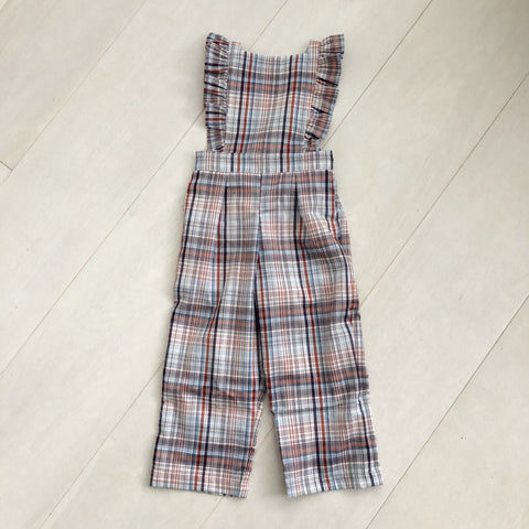 vintage plaid jumpsuit 18/24