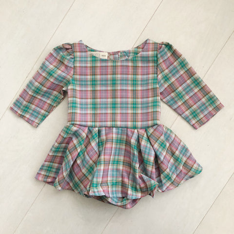 vintage pink plaid dress 18/24