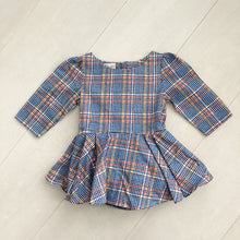 vintage blue plaid dress 18/24