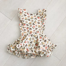 vintage fall bouquet  pinafore 2t
