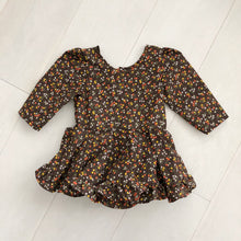 vintage brown berry dress 2t