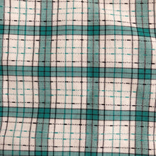 vintage green textured check pinafore 3t